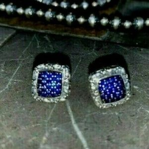 JOHN HARDY Jai Blue Pavé Sapphire Stud Earrings